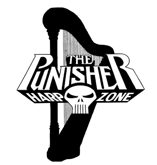 The Official logo to The Punisher Harp Zone.