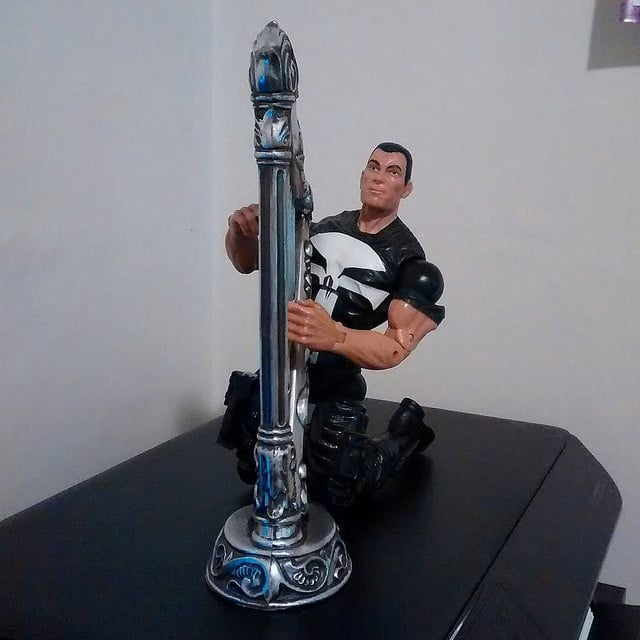 Here is Punisher performing on his new harp.