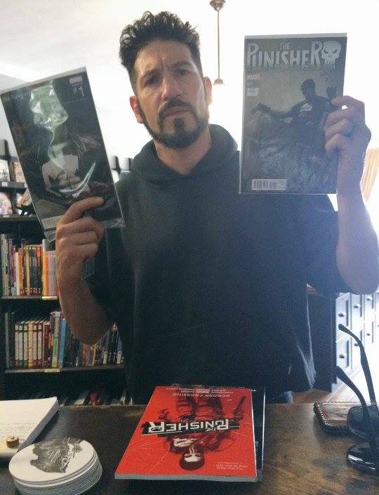 Here's Jon Bernthal getting more Punisher comics to prepare himself for his upcoming starring role in Netflix's The Punisher.