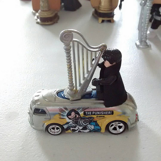 Have harp will travel.