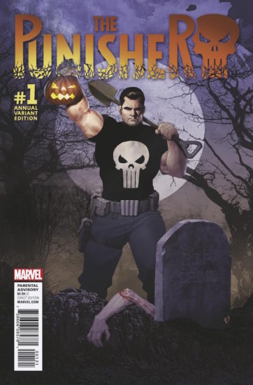 Punisher Annual Cover by Olivetti.