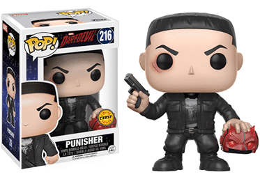 Jon Bernthal's Punisher from Funko Pop toys with Daredevil mask variant.